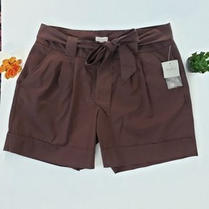 MADISON Brown Bow Belt Shorts Size 16